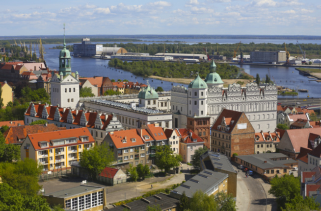 Widok na Odrę i Apartamenty Szczecin